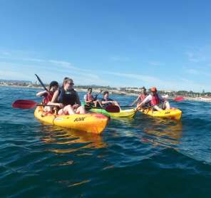Kayaking with our visitors, Jonna Kulmuni and Daniel Zivkovic